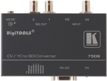 Multinorm Format-Wandler für Composite-Video oder S-Video Signale. Kramer - 7508