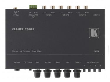 Kompakt-Verstärker für unsymmetrische Stereotonsignale. Kramer 903